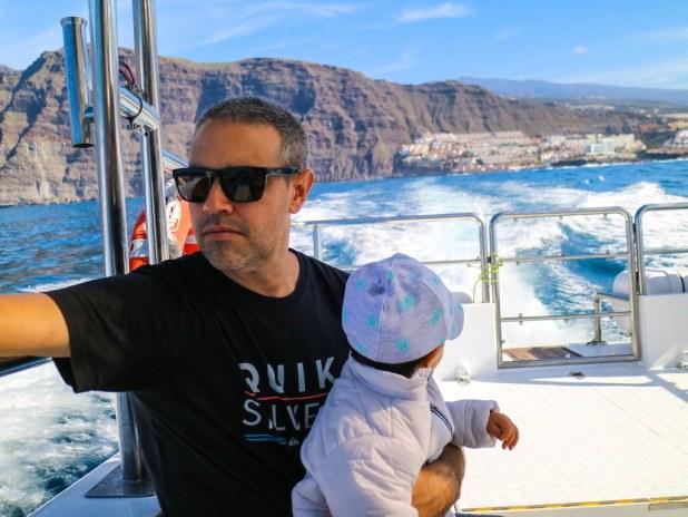 Excursión para ver ballenas y delfines en Tenerife con un bebé