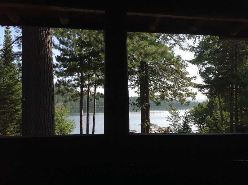 Morning view from Clearwater Lake Lodge porch