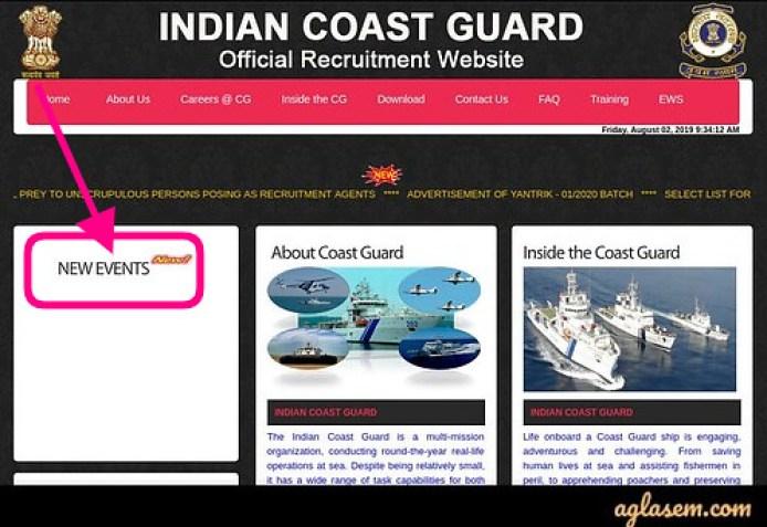 Indian Coast Guard Yantrik Result 2020