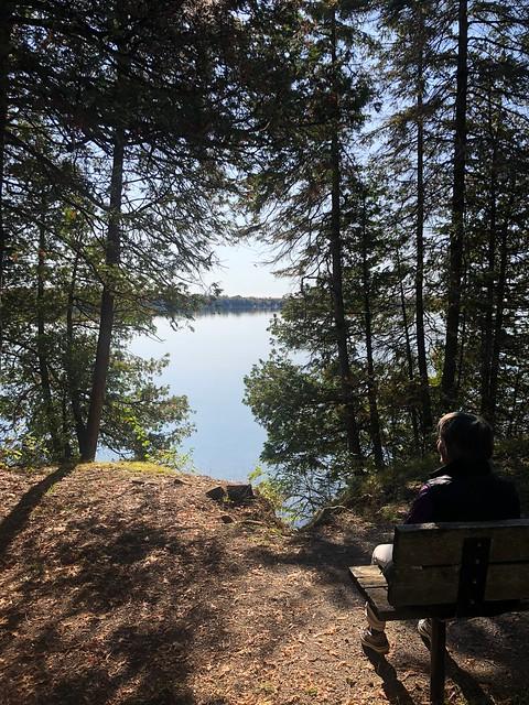 Balsam Lake - Linda over the lake