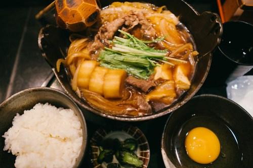 Beef sukiyaki at Honmiyake, Osaka, Japan