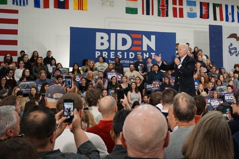 Joe Biden Rally in Des Moines, Feb. 2, 2020 - 2020 Iowa Caucus