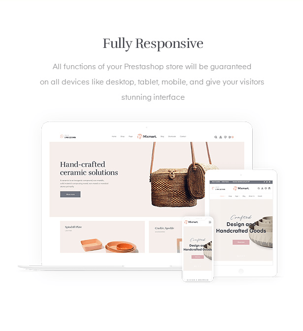 Handmade Shopify Theme with mobile ready