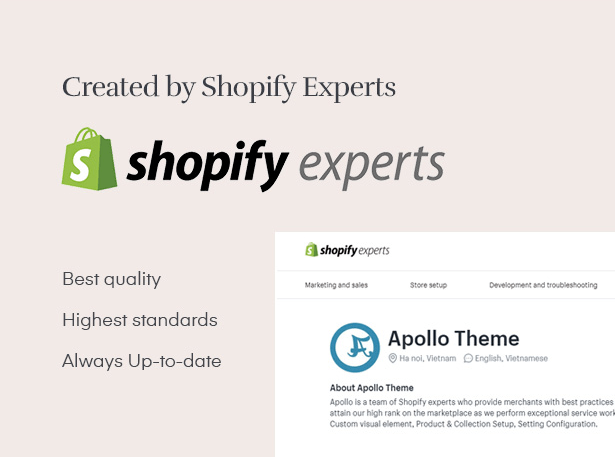 Created by Shopify Experts