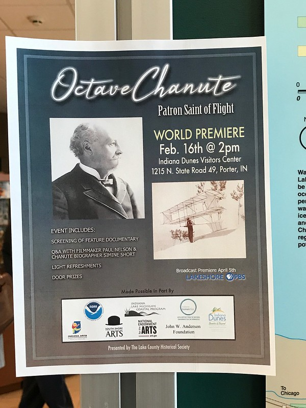 Octave Chanute: Patron Saint of Flight film premiere at Indiana Dunes Visitor Center
