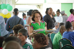 First Lady, Mrs. Sandra Granger serves Senior Citizens