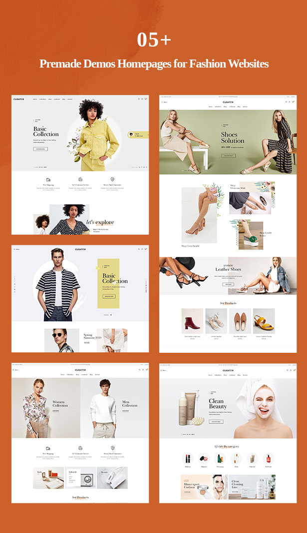 multiple prestashop clothing themes