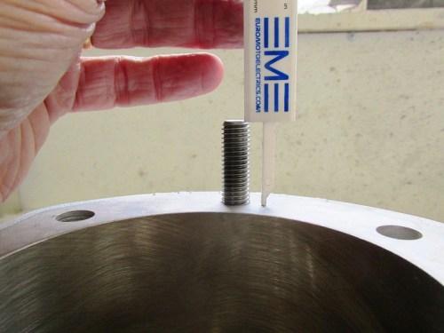 Measuring Exposed Stud Thread Height