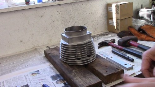 Heated Cylinder Read For Installing Push Rod Tubes