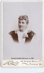 Hanna Mathilda Halverson - ca. 1885