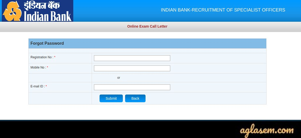 Indian Bank SO Admit Card 2020