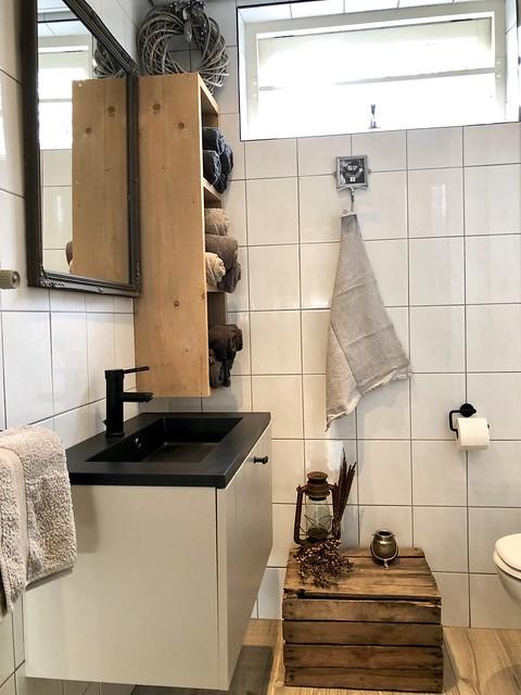Badkamer landelijke decoratie