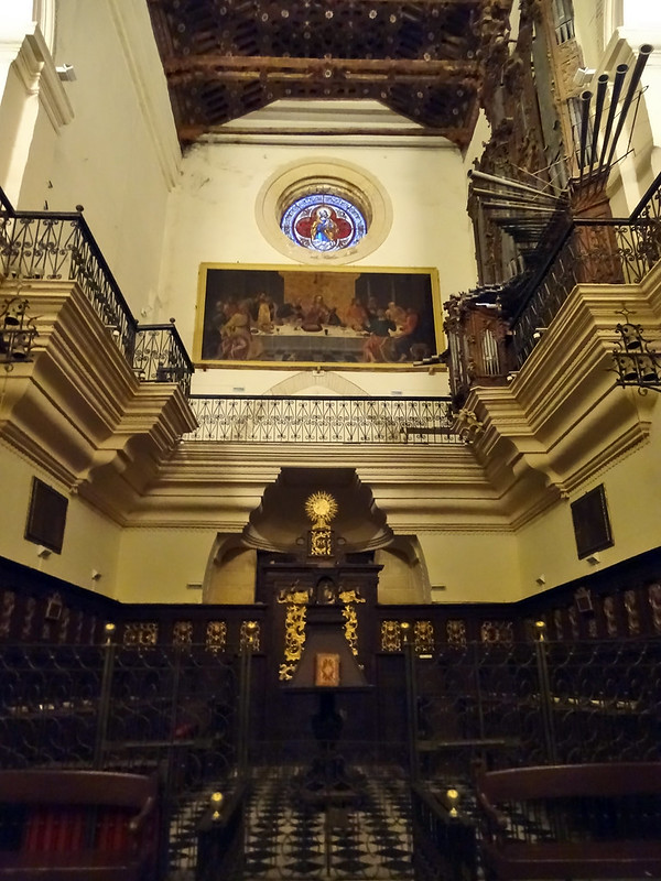 coro interior Iglesia de Nuestra Señora de la O Sanlucar de Barrameda Cadiz 01