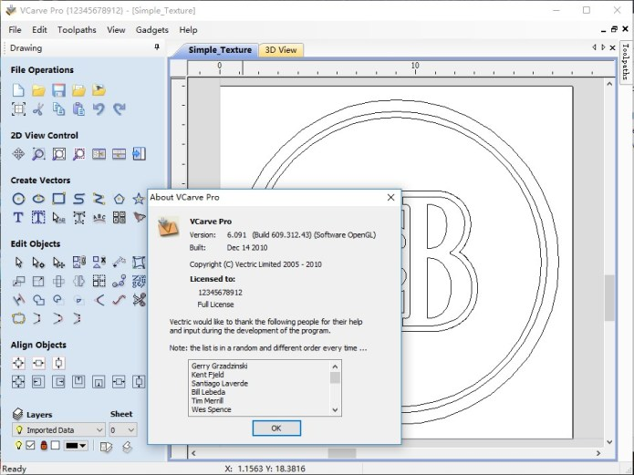 Working with Vectric VCarve Pro 6.091 full license