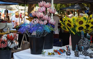 Beaded flowers, Franschhoek market