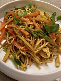Vegetable noodles, Views Boutique Hotel