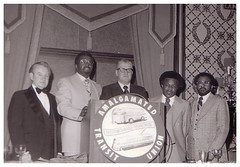Local 689 top officers at their installation: 1977