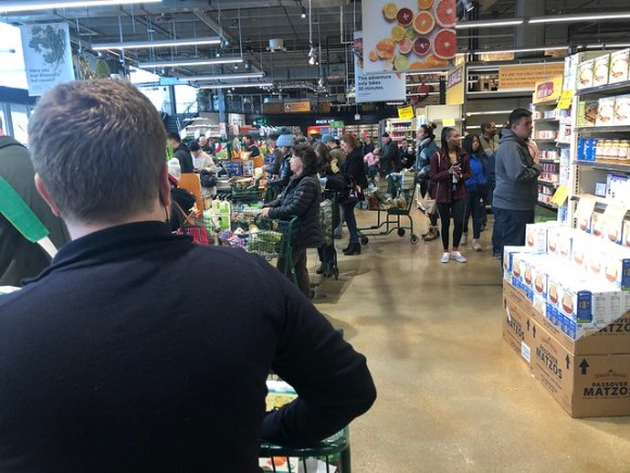 Whole Foods Checkout Line - 3-16-20