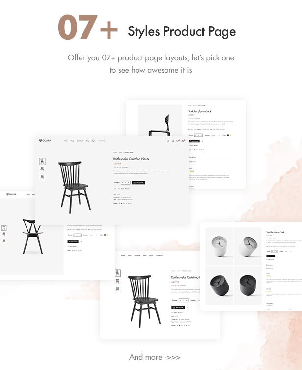 Various Styles For Product Page