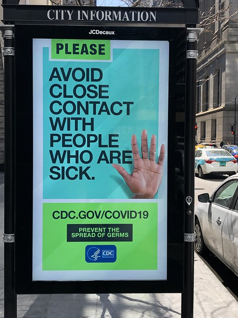 Please avoid close contact with people who are sick