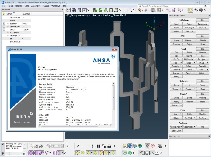 working with BETA CAE ANSA 19.1.6 full license