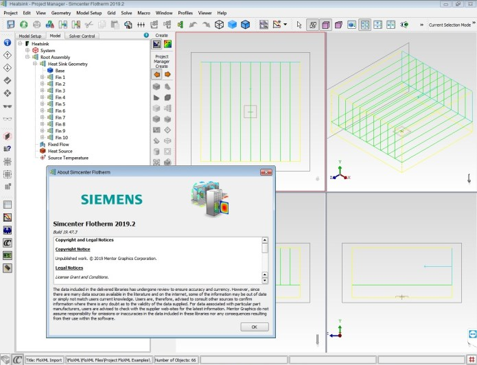 Working with Siemens Simcenter FloTHERM 2019.2 full