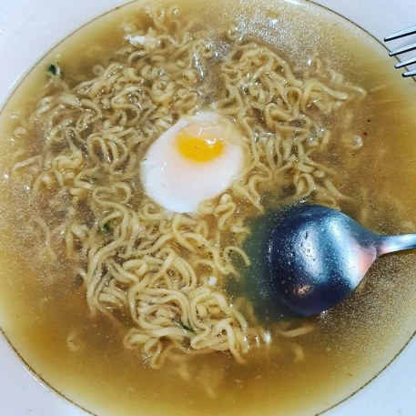 Instant noodles with a soft boiled egg