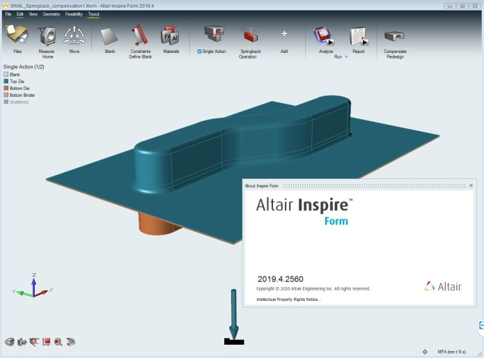 Working with Altair Inspire Form 2019.4 Build 2560 full license