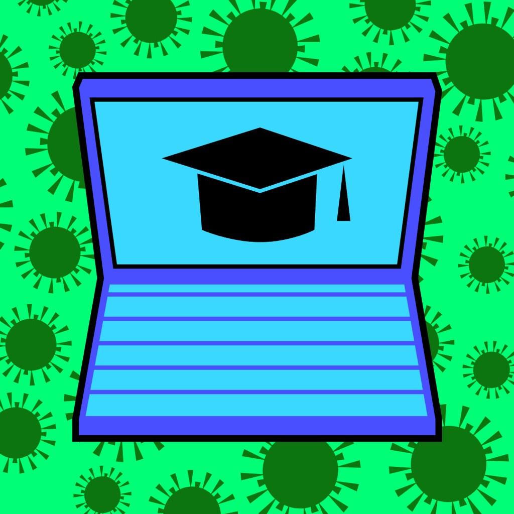 coronavirus classes illustration
