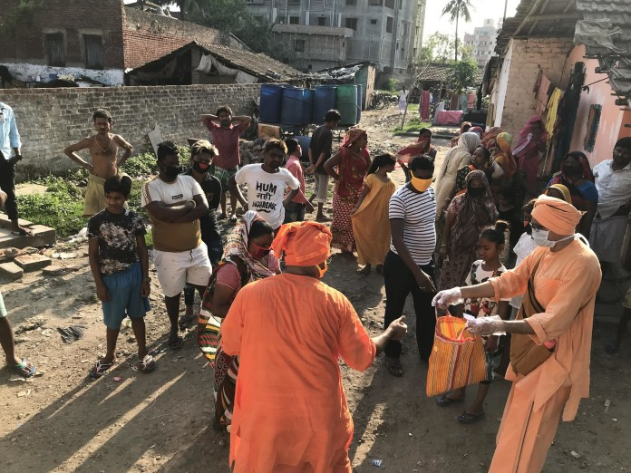 Covid-19 Relief Services by Ramakrishna Mission Saradpitha, March 2020