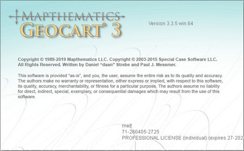 Mapthematics GeoCart 3.3.5 x64 full license