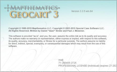 Mapthematics GeoCart 3.3.5 x64 full license