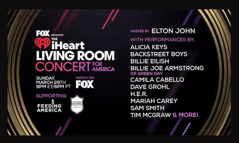 """Famosos participara hoy en el """"Living Room Concert for America"""" 1"""