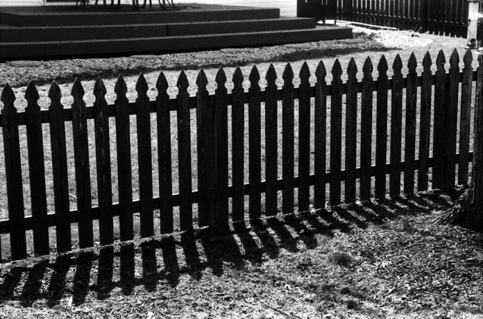 Fence and shadow