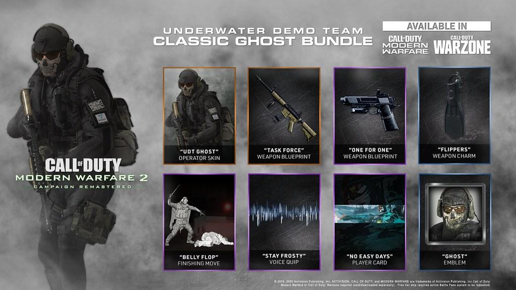 Call of Duty: Modern Warfare 2 Campaign Remastered – Underwater Demo Team Classic Ghost Bundle for Modern Warfare