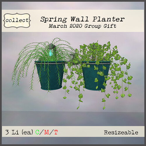Spring Wall Planter - Teal