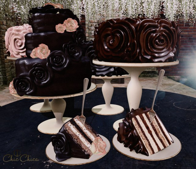Rose cake dispensers by ChicChica @ Anthem