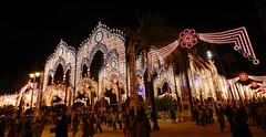 iluminacion y calles del recinto Parque González Hontoria Feria del Caballo 2014 Jerez de la Frontera Cadiz 07