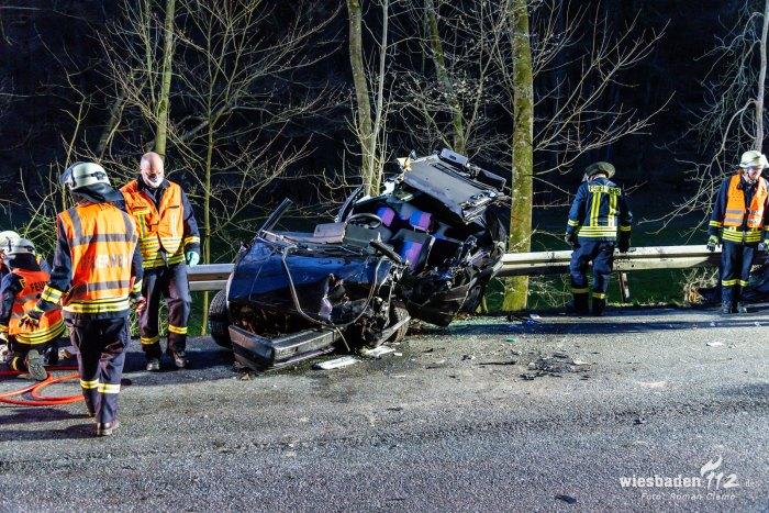 schwerer Verkehrsunfall Weilrod 06.04.2020