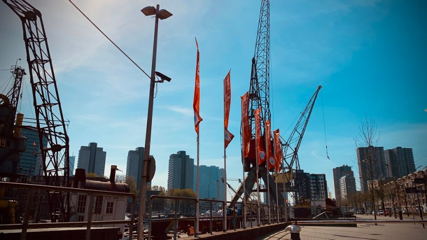 Rotterdam Daily Photo: Confinement, sunny safe harbour