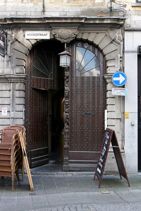 IMG_0338 Antwerpen Hoogstraat ingang Vlaaikensgang