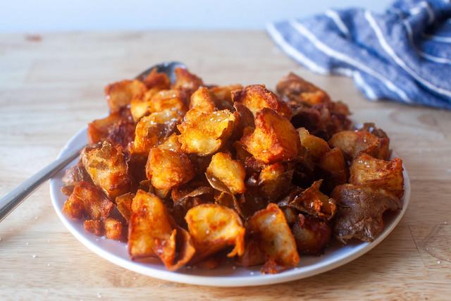 crispy crumbled potatoes