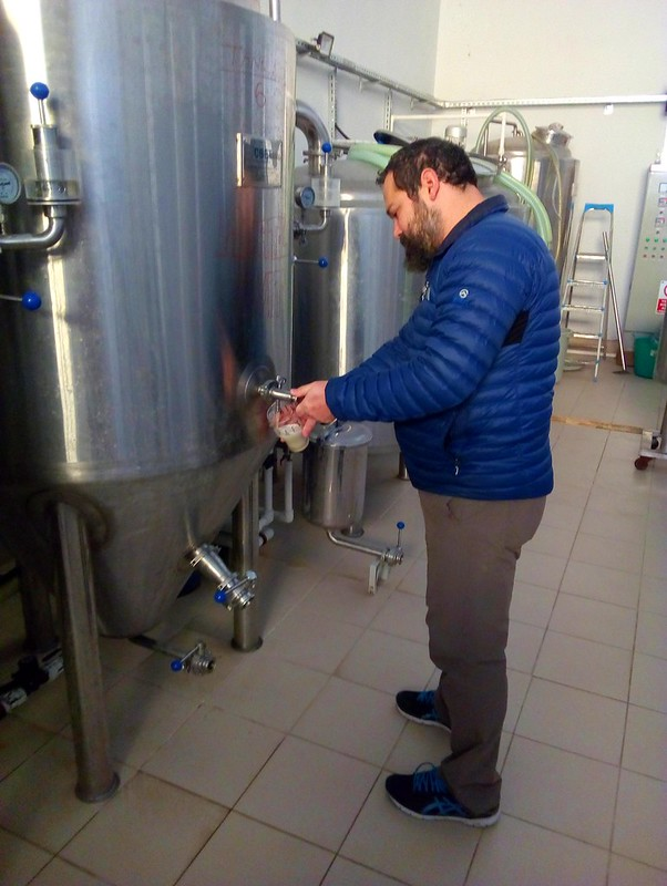 Ozan, the brewmaster at Feliz Kulpa Brewery by bryandkeith on flickr