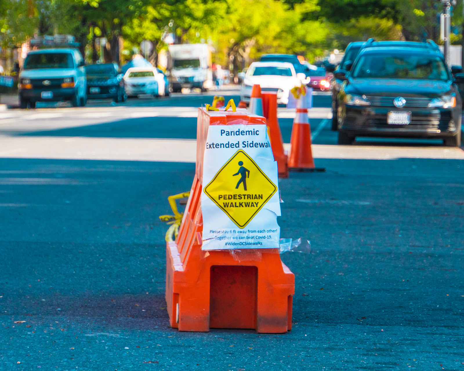 Thank you for publishing my photo, in DC will temporarily widen some sidewalks near grocery stores and other businesses – Greater Greater Washington