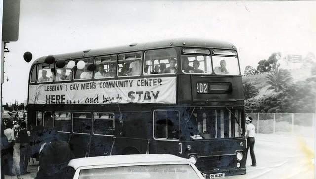 San Diego Pride Parade, 1983. Gay Center Bus