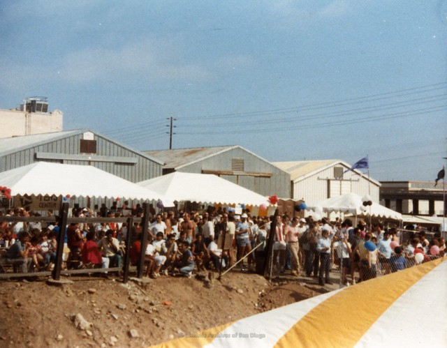 San Diego Pride Festival at West Coast Production Company(WCPC) parking lot, c.1985