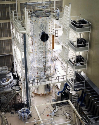 Hubble Space Telescope in Lockheed clean room