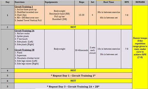 Training program from Desmond