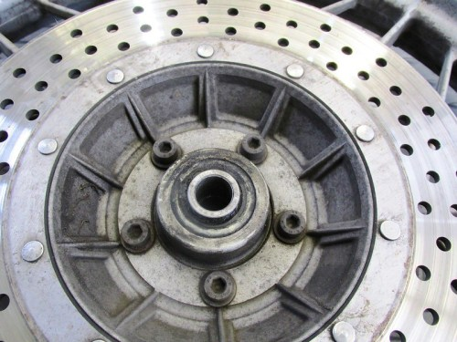 Right Side Disk Brake Rotor Has Allan Head Bolts