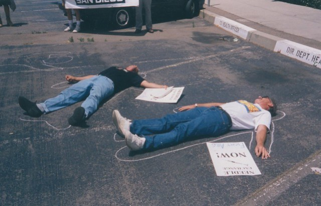 Act-Up Die-in, c.1992
